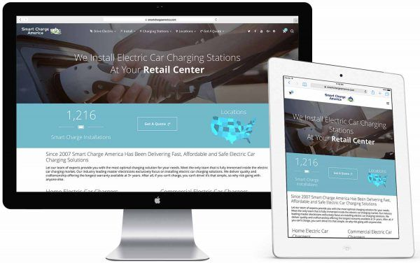 example of austin web design and ecommerce for Smart Charge America by Alex Wright